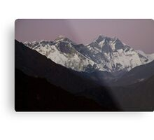 Mount Everest at sunset Nepal Metal Print