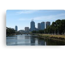Melbourne Over The Yarra River Canvas Print