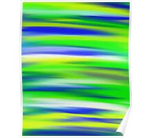Zesty Sky Abstract Poster
