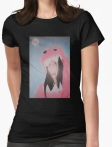 Beautiful in Pink Monster Suit (showing teeth) Womens Fitted T-Shirt