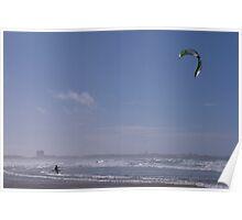 Kitesurfing in Peniche Portugal Poster
