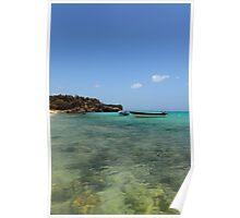 Dominican Republic blue ocean  Poster