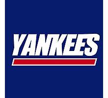 Ny Yankees Ny Giants logo swap Photographic Print