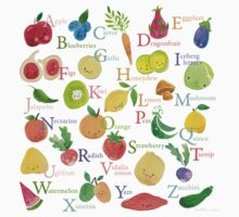 Fruit and Veggie Alphabet One Piece - Short Sleeve
