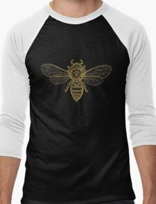 Mandala Bees Men's Baseball ¾ T-Shirt