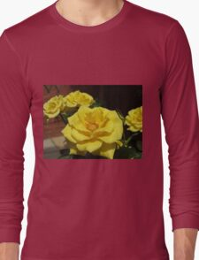 Golden Jewels - Beautiful Yellow Roses Long Sleeve T-Shirt