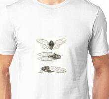 3 sepia Cicadas Unisex T-Shirt