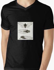 3 sepia Cicadas Mens V-Neck T-Shirt