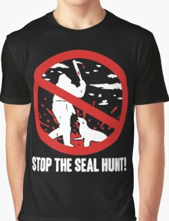 Stop The Seal Hunt Graphic T-Shirt