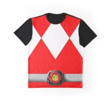 Mighty Morphin Pokémon Rangers - Red Tyrantrum - Morpher Graphic T-Shirt