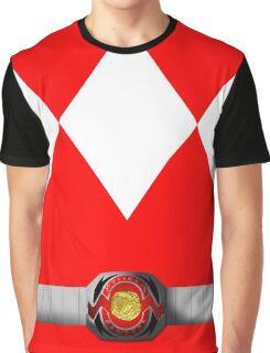 Mighty Morphin Pokémon Rangers - Red Tyrantrum - Morpher Graphic T-Shirt
