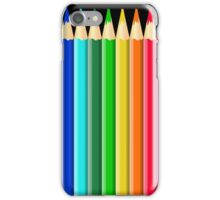 Rainbow of Colorful Colored Pencils or Crayons iPhone Case/Skin