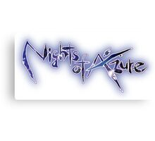 Nights of Azure Canvas Print