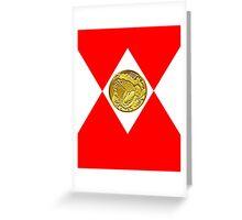 Mighty Morphin Pokémon Rangers - Red Tyrantrum Greeting Card