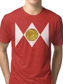 Mighty Morphin Pokémon Rangers - Red Tyrantrum Tri-blend T-Shirt