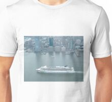 Aerial View, Norwegian Gem Cruise Ship, Jersey City Skyline, One World Observatory, World Trade Center Observation Deck, Lower Manhattan, New York City Unisex T-Shirt