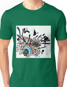 Psychedelic coral abstract flower Unisex T-Shirt