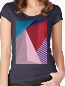 Abstract Modernist Women's Fitted Scoop T-Shirt