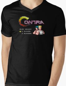 Contra Title Mens V-Neck T-Shirt