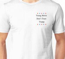 Young Metro Don't Trust Trump (Mini Logo/ Stars/ Black) Unisex T-Shirt
