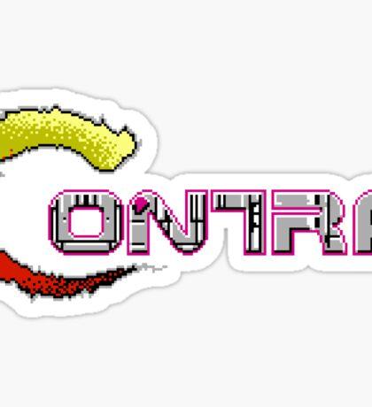 Contra Title Sticker