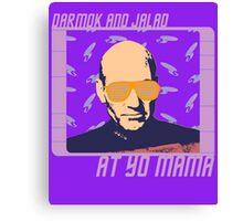 Picard Throwing Shade Canvas Print