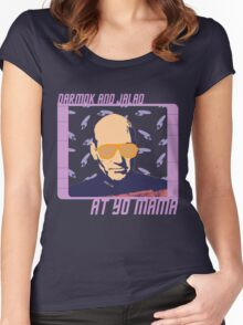 Picard Throwing Shade Women's Fitted Scoop T-Shirt