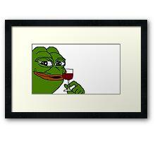 Rare Pepe Meme Framed Print
