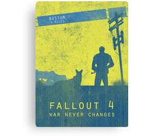 Fallout 4 game poster Canvas Print