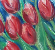 Whispering Tulips Sticker
