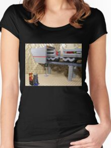 Highly Polluted Industrial World: Scruta Women's Fitted Scoop T-Shirt