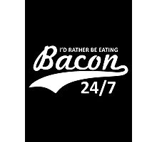 eating bacon Photographic Print