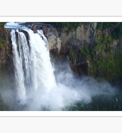 Thundering Snoqualmie Falls Sticker