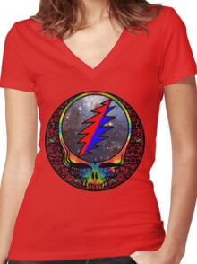 Grateful Dead Women's Fitted V-Neck T-Shirt