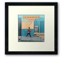 Super Duper Brick Framed Print