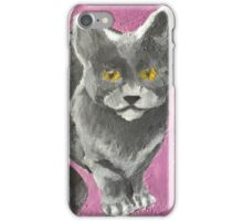 Camille Pink Background iPhone Case/Skin