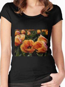 Unique Beauty - Flower Art Women's Fitted Scoop T-Shirt