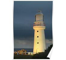 Joe Mortelliti Gallery - Twilight rain, Cape Otway Lighthouse, Great Ocean Road, Victoria, Australia. Poster