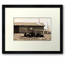 Route 66 Vintage Auto Framed Print