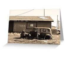 Route 66 Vintage Auto Greeting Card