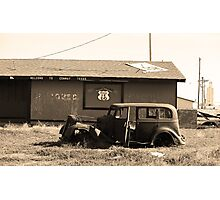 Route 66 Vintage Auto Photographic Print