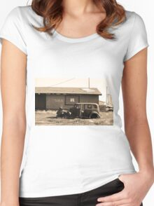 Route 66 Vintage Auto Women's Fitted Scoop T-Shirt