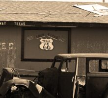 Route 66 Vintage Auto Sticker