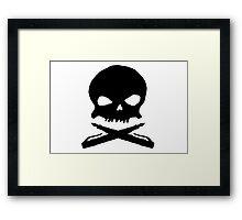 the literary pirate flag Framed Print
