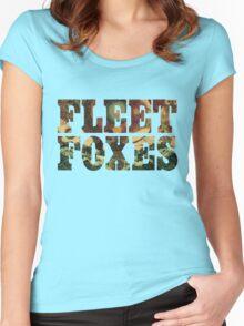 Fleet Foxes Logo Women's Fitted Scoop T-Shirt