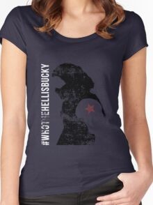 Who the Hell is Bucky (Distressed) Women's Fitted Scoop T-Shirt