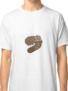 Brass Stamp T-Rex Skull Fossil Impression Classic T-Shirt