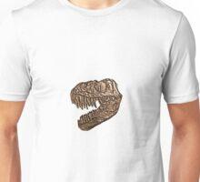 Brass Stamp T-Rex Skull Fossil Impression Unisex T-Shirt