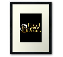 irish drunk Framed Print