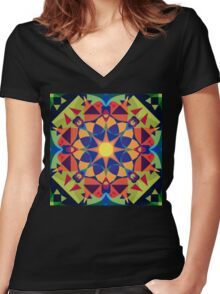 Crown Shyness Women's Fitted V-Neck T-Shirt